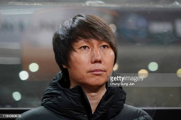 Chinese team coach Li Tie during the EAFF E-1 Football Championship match between South Korea and China at Busan Asiad Main Stadium on December 15,...