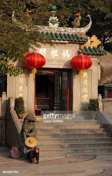 A Chinese temple stands on February 20 2008 in Macau China