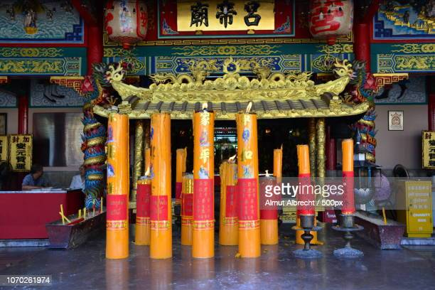 chinese temple with great candles in Bangkok