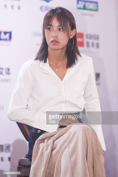 Chinese tennis player Wang Qiang attends the player party during 2019 WTA Shenzhen Open at Zhu Jiang Crowne Plaza Hotel on December 31 2018 in...