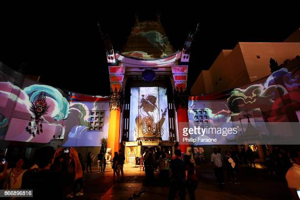 "Chinese Theatre celebrates the release of New Michael Jackson ""Scream"" CD with one week only free giant outdoor 3D mapping show at TCL Chinese..."