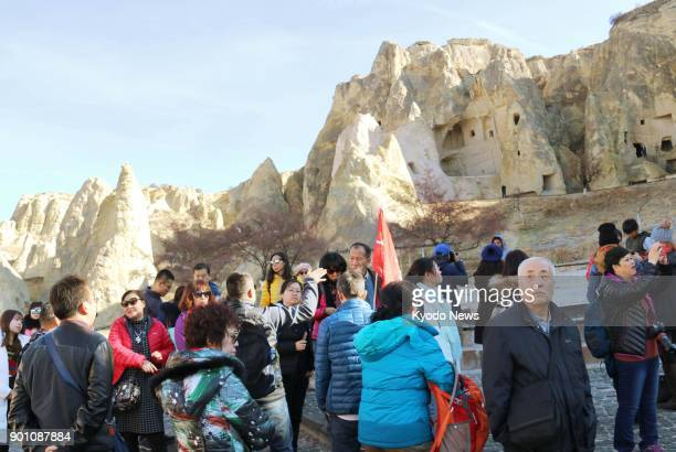 Chinese tourists visit Cappadocia in Turkey on Dec 1 2017 More Chinese tourists are expected to visit as China has designated 2018 as 'Turkey tourism...