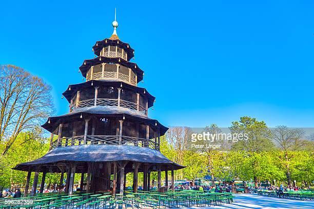 Chinese Tower beer garden, Munich
