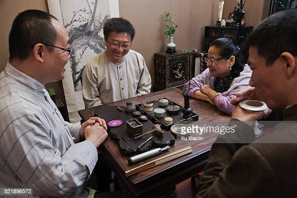 Chinese traditional agarwood ceremony