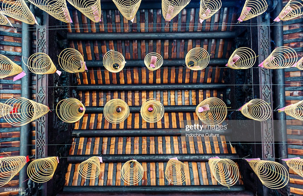 Chinese traditional culture spiral incense : Stock Photo