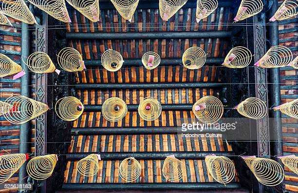 chinese traditional culture spiral incense - incense coils stock photos and pictures