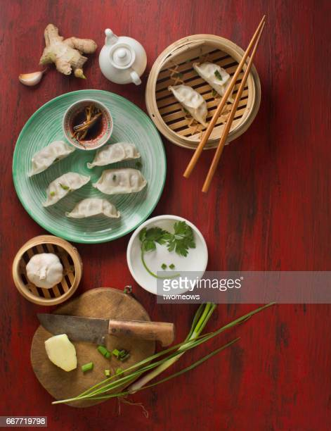 Chinese traditional food steamed dumpling.