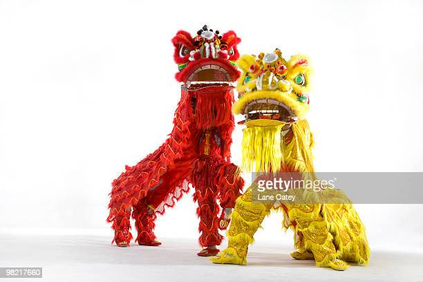 chinese traditional lion dancing - hairy asian stock pictures, royalty-free photos & images