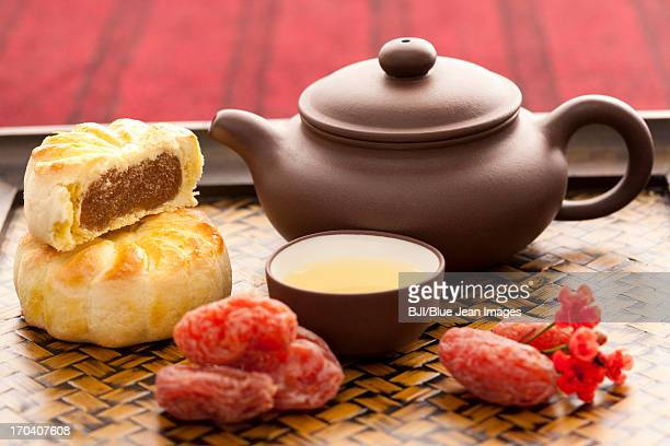 Chinese traditional preserved fruit and tea