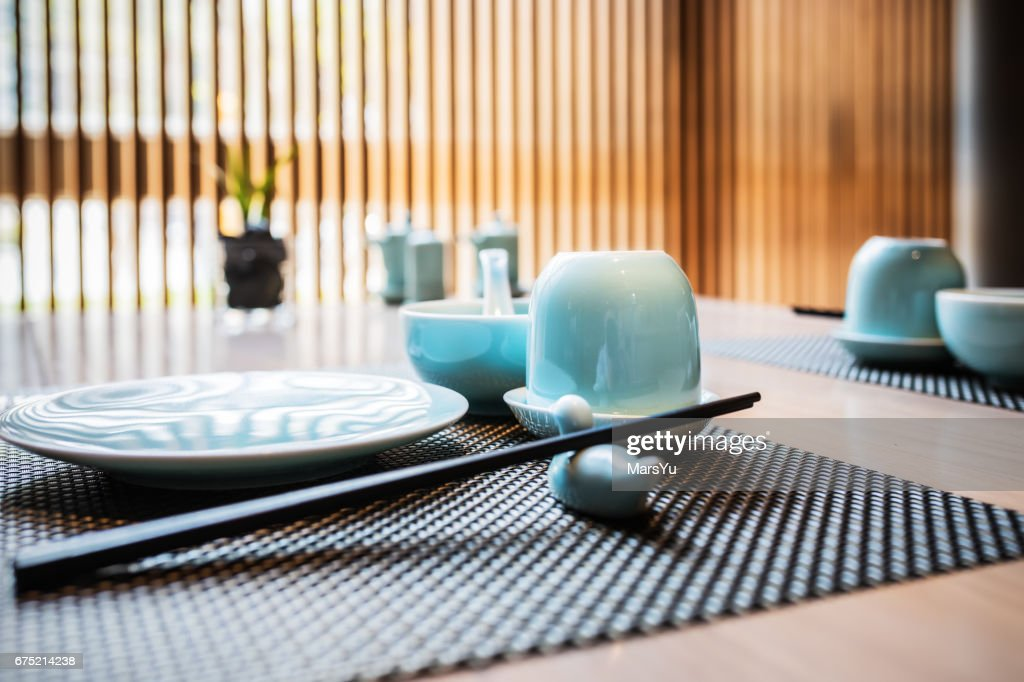 Chinese Traditional Table Setting : Stock Photo
