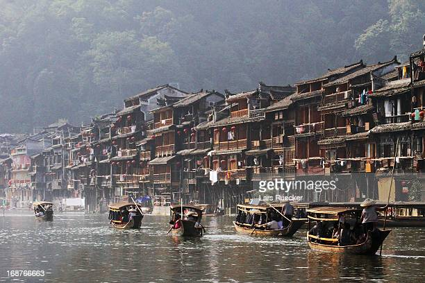 Chinese traditional water village in Fenghuang