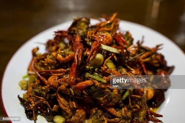 Chinese urban consumers, Plate of Garlic Crayfish