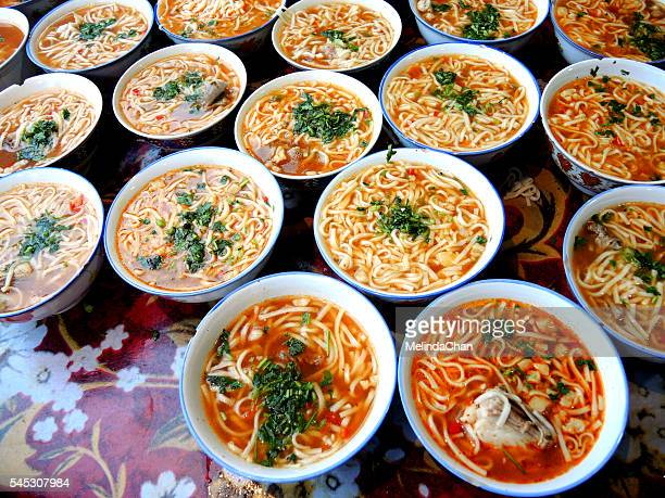 Chinese Uyghur-Style noodle bowls