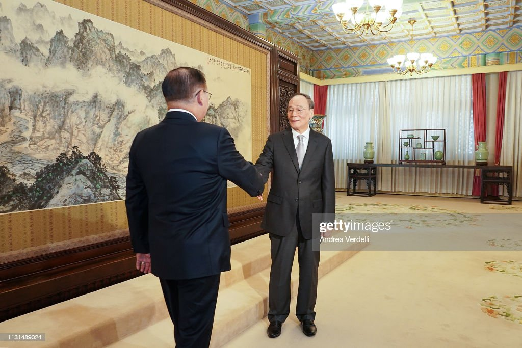 CHN: Philippine Secretary Of Foreign Affairs Meets Chinese Vice President Wang Qishan