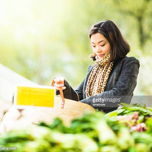 Chinese Woman in Farmers Market