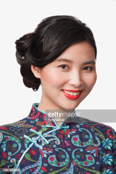 chinese woman in traditional clothing - minority groups stock pictures, royalty-free photos & images