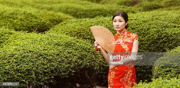 Chinese Woman Wearing Cheongsam