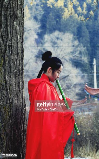 Chinese Woman With Traditional Clothing