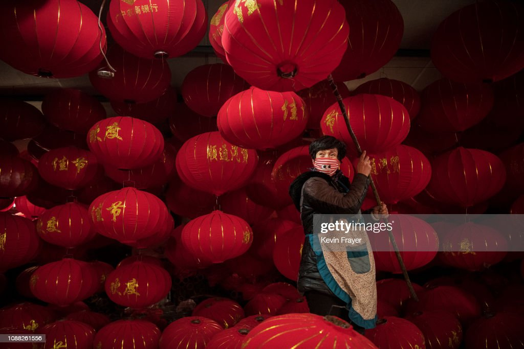 CHN: Chinese Village Makes Traditional Red Lanterns For Chinese New Year