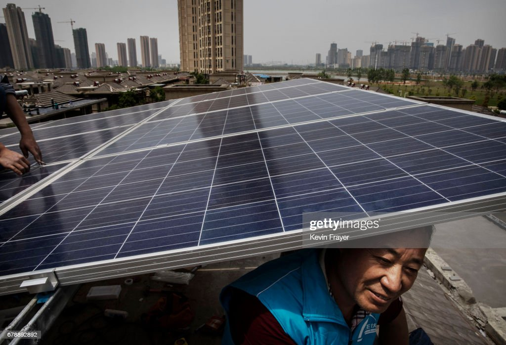 Solar Power Looks to Expand In China's Growing Cities : News Photo