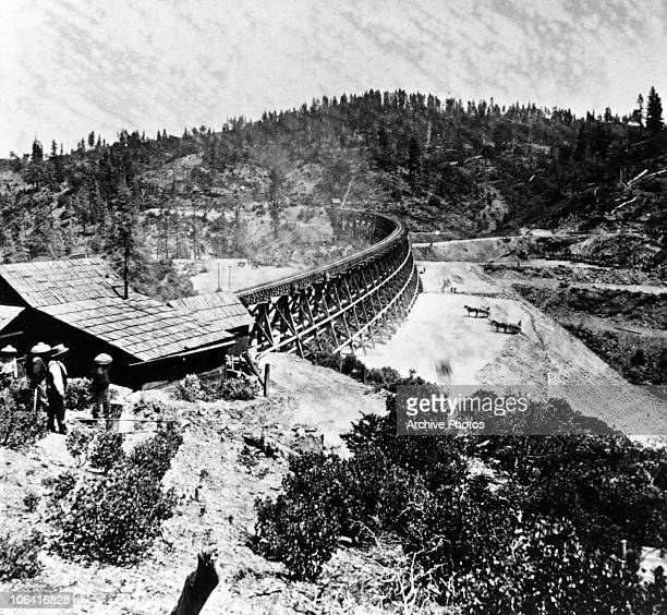 Chinese workers on the Central Pacific Railroad in 1869