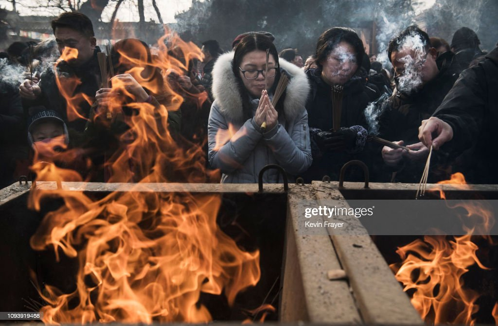 China Marks Lunar New Year : News Photo
