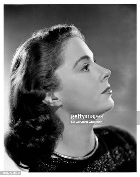 Chinese-American Actress Jayne Meadows shows her profile in a publicity shot from the late 1940's, United States.