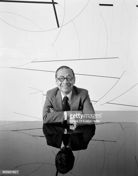 ChineseAmerican architect I M Pei New York 1982
