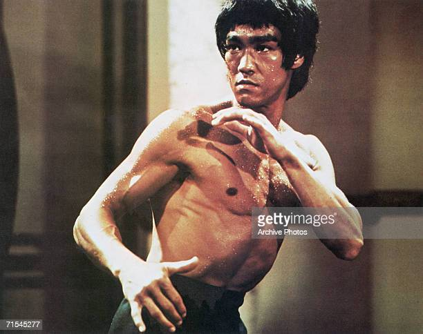 ChineseAmerican martial arts exponent Bruce Lee in a karate stance early 1970s