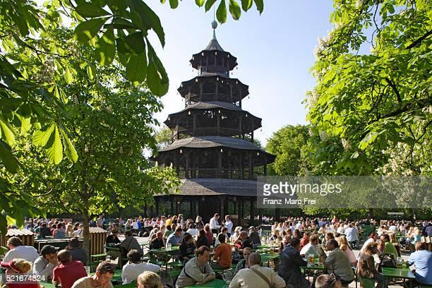 Chinesischer Turm and Beer Garden in Englischer Garten