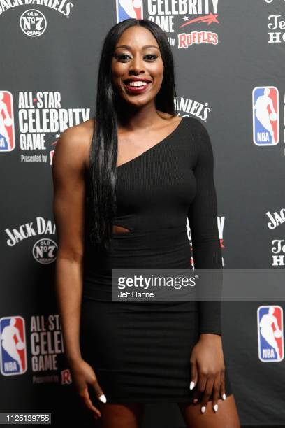 Chiney Ogwumike attends the 2019 NBA AllStar Celebrity Game at Bojangles Coliseum on February 15 2019 in Charlotte North Carolina