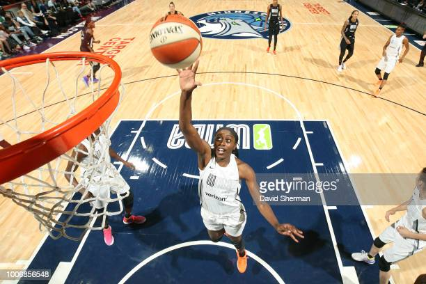 Chiney Ogwumike of Team Parker goes up for a rebound against Team Delle Donne during the Verizon WNBA AllStar Game 2018 on July 28 2018 at the Target...