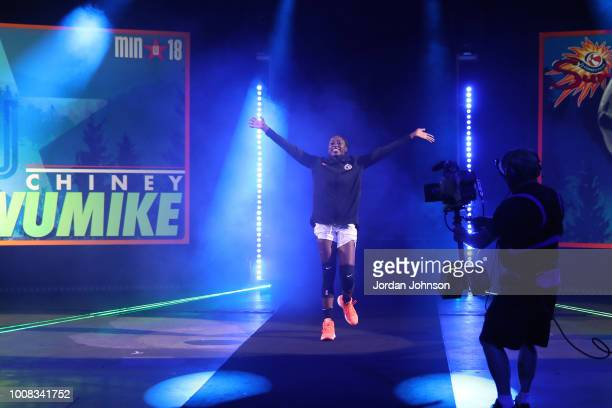 Chiney Ogwumike of Team Parker is introduced before the Verizon WNBA AllStar Game on July 28 2018 at the Target Center in Minneapolis Minnesota NOTE...