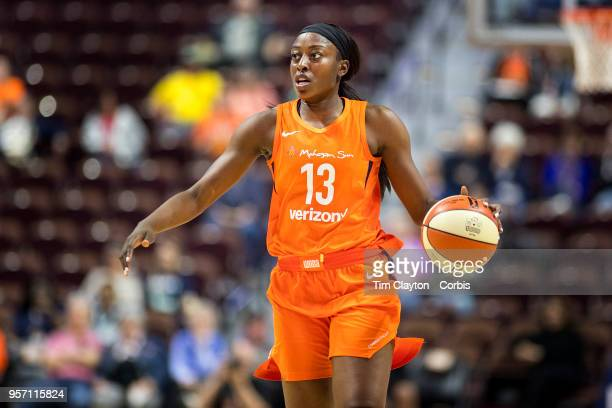 Chiney Ogwumike of the Connecticut Sun in action during the Connecticut Sun Vs Los Angeles Sparks WNBA pre season game at Mohegan Sun Arena on May 7...