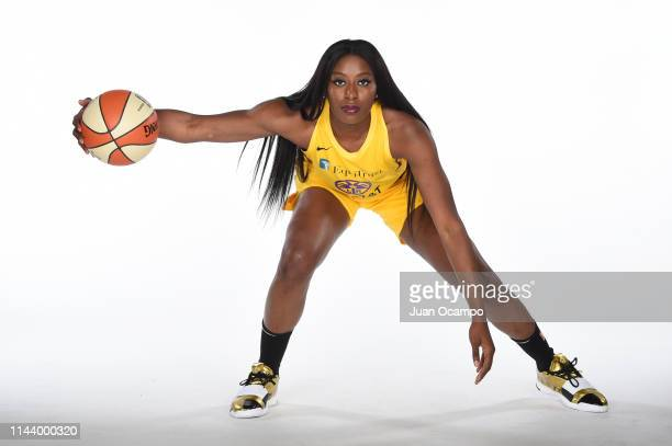Chiney Ogwumike poses for a portrait during the Los Angeles Sparks Media Day at Southwest College on May 14 2019 in Los Angeles California NOTE TO...