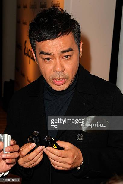 Ching Wan Lau attends the Esquire HK cocktail party on 02th December 2014 in Hongkong China