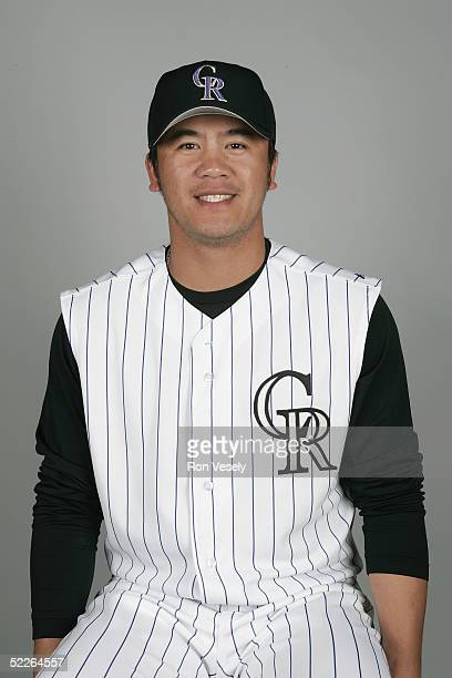 Chinhui Tsao of the Colorado Rockies poses for a portrait during photo day at Hi Corbett Field on February 26 2005 in Tucson Arizona