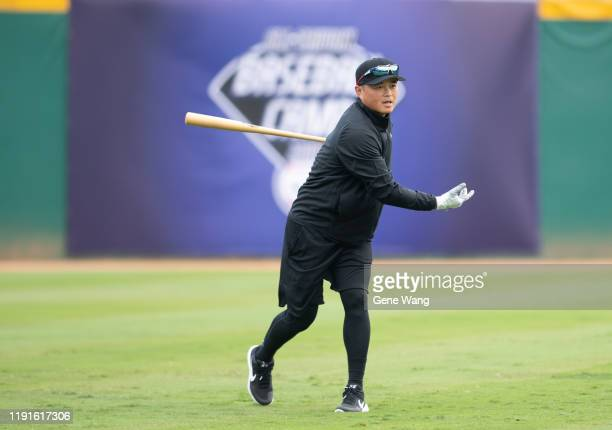 Chinlung Huformer player of Los Angeles Dodgersnow outfielder of Fubon Guardians for CPBL coachs during the day one of the 7th Nike All Taiwan...