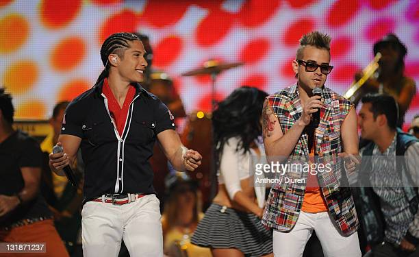 Chino and Nacho perform during the 2011 Billboard Latin Music Awards at Bank United Center on April 28 2011 in Miami Florida