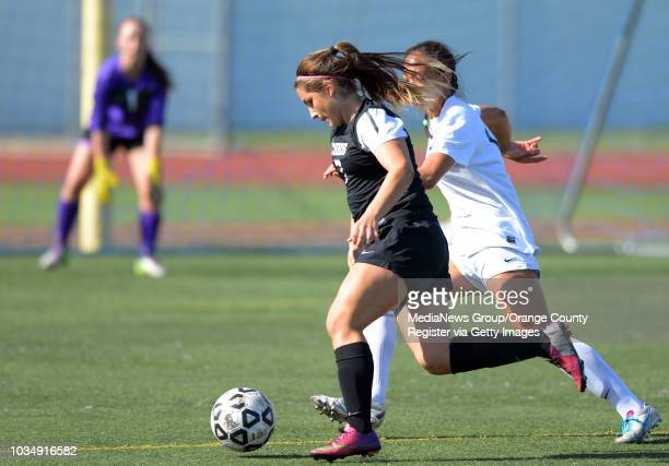 Chino Hills' Dayna Garcia tries to penetrate the Westview defense in the 2014 CIF SoCal Regional Soccer Championships at Warren High in Downey, CA on...