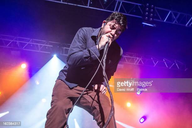 Chino Moreno from Deftones performs at Le Trianon on February 22 2013 in Paris France