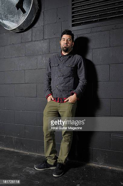 Chino Moreno lead vocalist and guitarist of American alternative metal band Deftones photographed during a portrait shoot backstage at the Manchester...