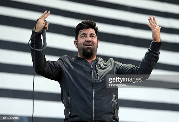 Chino Moreno of Deftones performs at Day 2 of the Sonisphere Festival at Knebworth Park on July 5 2014 in Knebworth England