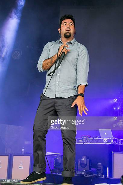 Chino Moreno of Deftones performs at DTE Energy Music Theatre on July 22 2015 in Clarkston Michigan