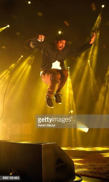 Chino Moreno of Deftones performs at Northwell Health at Jones Beach Theater on June 13 2017 in Wantagh New York