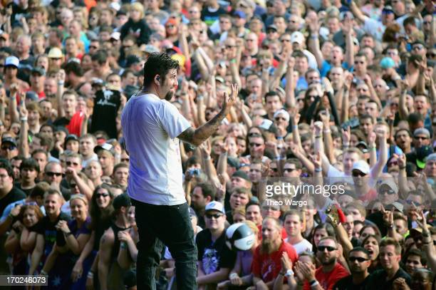 Chino Moreno of Deftones performs during the 2013 Orion Music More Festival at Belle Isle Park on June 9 2013 in Detroit Michigan