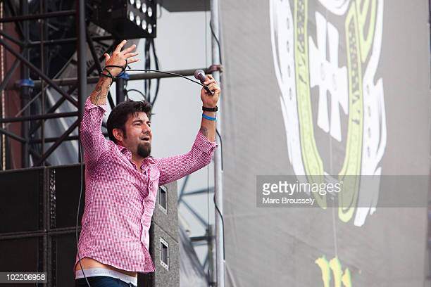 Chino Moreno of Deftones performs on stage at Hellfest Festival on June 18 2010 in Clisson France