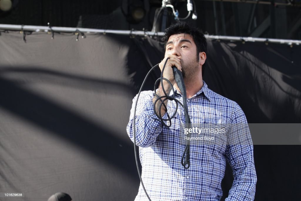 Chino Moreno of The Deftones performs at Columbus Cew Stadium in Columbus, Ohio on MAY