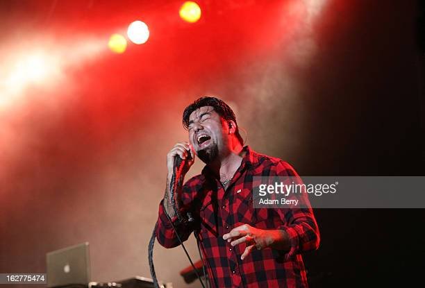 Chino Moreno of the Deftones performs at Huxleys Neue Welt on February 26 2013 in Berlin Germany