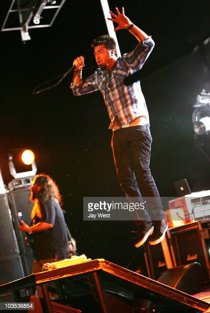 Chino Moreno of the Deftones performs at the ATT Center on August 21 2010 in San Antonio Texas